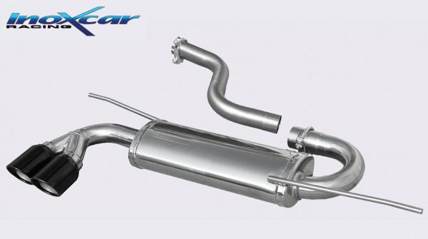 INOXCAR Volkswagen SCIROCCO 1.4 TSi/2.0 TDi 2008-- Sportendschalldämpfer 2x80mm X-RACE BLACK EDITION