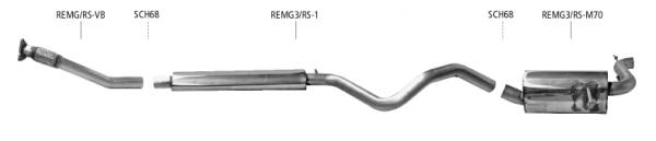 BASTUCK Renault Megane MK3 RS 250 Abgasanlage