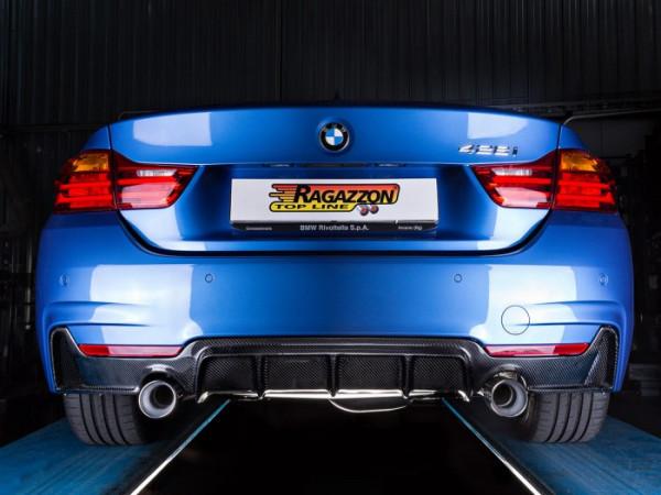 RAGAZZON BMW F36 428i Gran Coupe Sport-Endschalldämpfer mit Klappensteuerung N20 180KW 2014-2016