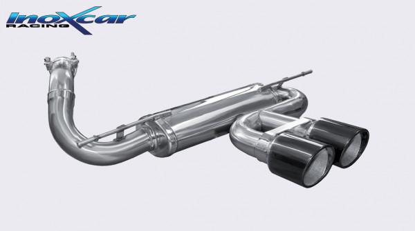 INOXCAR Ford Focus MK 3, 2012- Sportendschalldämpfer 2x100mm X-RACE BLACK EDITION