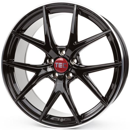 TEC Speedwheels GT-6 black polished lip 8,5x20 Ford
