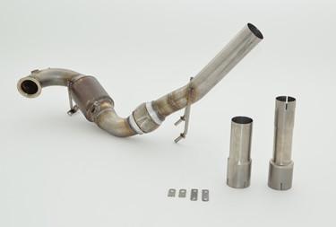 FMS 63.5mm Downpipe mit Sport-Kat. Edelstahl