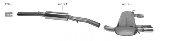 BASTUCK Audi TT 8N Quattro Komplettanlage inkl. 3.2l V6