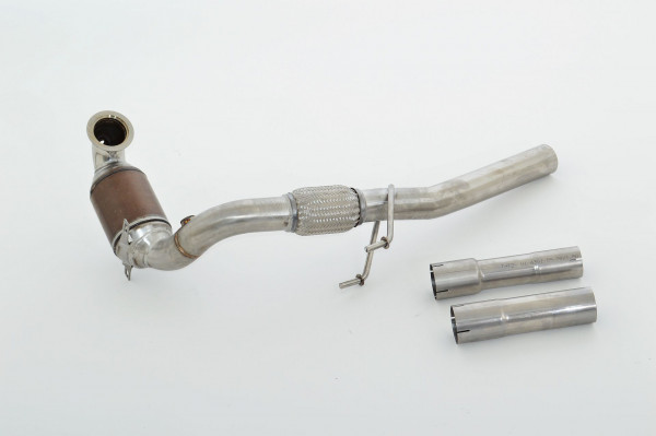 FMS 63.5mm Downpipe mit HJS Sport-Kat. Edelstahl