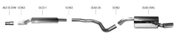 BASTUCK Komplettanlage Opel Adam S 1.4 TURBO 2015-