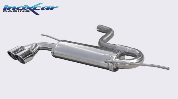 INOXCAR Volkswagen GOLF 6 1.4 TSi (122 PS) 2008-- Sportendschalldämpfer 2x80mm X-RACE