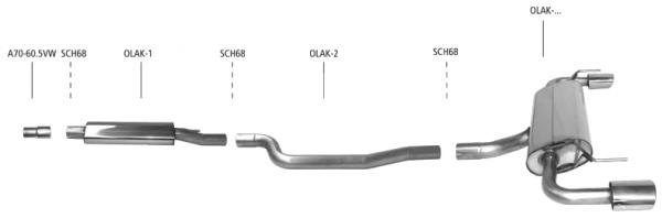 BASTUCK Komplettanlage Opel Astra K 1,6