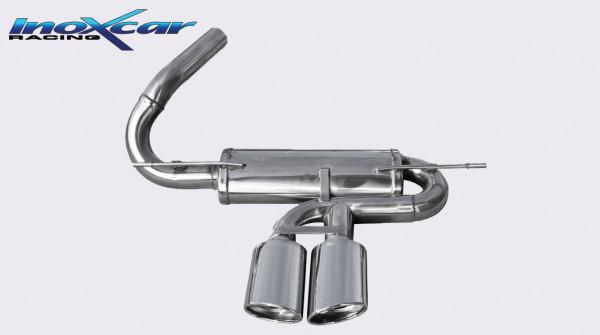 INOXCAR Ford Focus ST, Sportendschalldämpfer 2x120x80mm