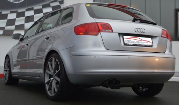 FMS 76mm Anlage mit Klappensteuerung Audi A3 8P Sportback Quattro