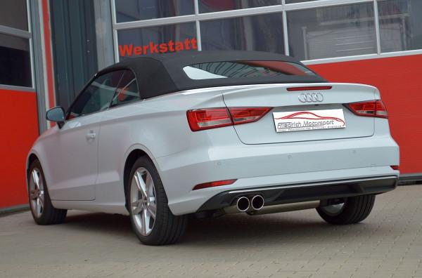 FMS Sportendschalldämpfer Audi A3 8V Cabrio Frontantrieb