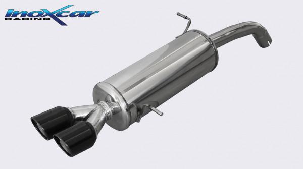 INOXCAR FORD FIESTA MK7 1.6 ST Sportauspuff 2X80mm X-RACE BLACK EDITION
