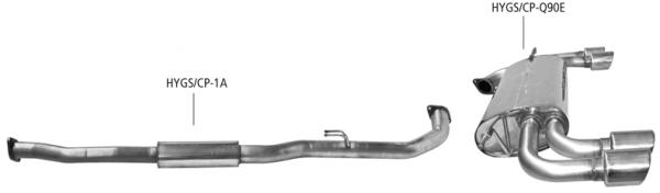 BASTUCK Komplettanlage Hyundai Genesis Coupé BK 2,0 Turbo