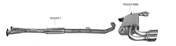 BASTUCK Komplettanlage für Hyundai Genesis Coupé 3.8l V6